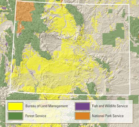 Wyoming Public Land Map Public Lands in Wyoming   Wyoming Hydrology
